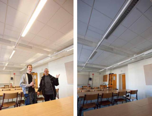 Modern belysning sparar energi åt Stockholms skolor
