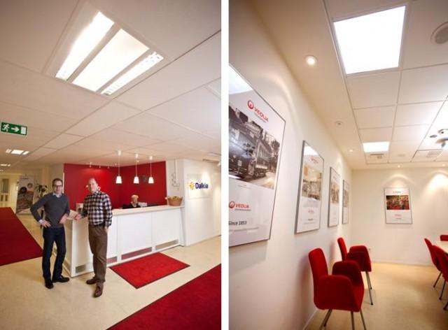 Dalkia förnyar belysningen på huvudkontoret