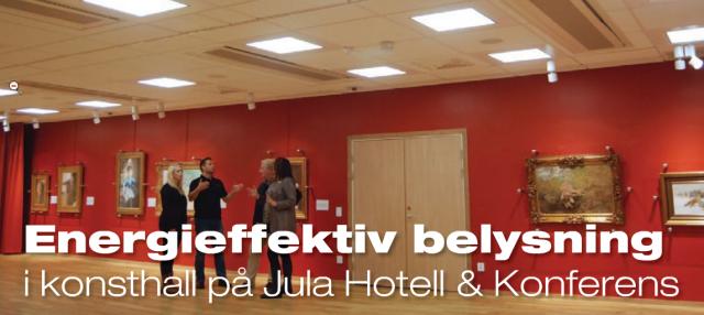 Energismart belysning på Jula Hotell & Konferens