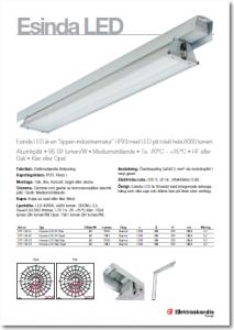 produktblad Esinda LED