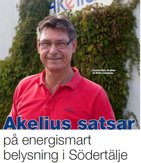 Akelius satsar på energismart belysning