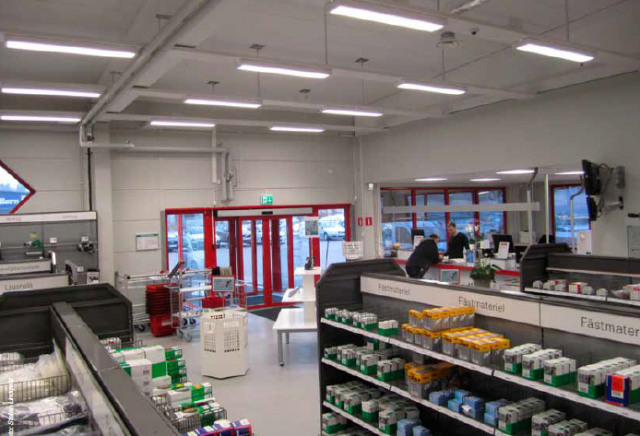 Elektroskandia satsar 100% på LED i vår butik i Oskarhamn. Ger 65% energibesparing