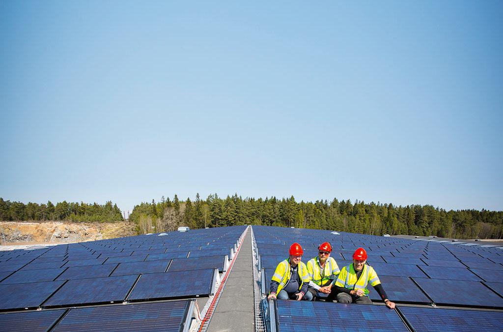 Elektroskandia levererar solpaneler till Albybergfastigheter