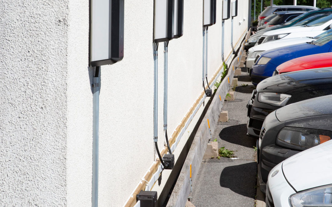 Flatkabel ger smidig installation av laddboxar
